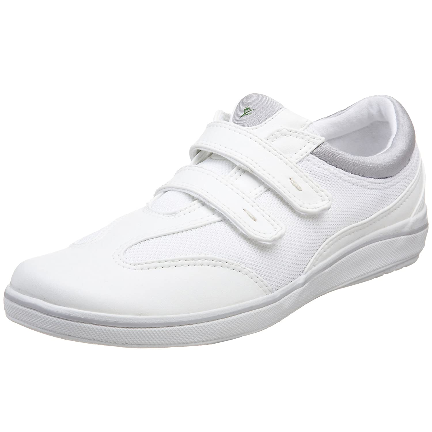 Grasshoppers Women's Stretch Plus Hook-and-Loop Sneaker B000WNHXH8 11 B(M) US|White