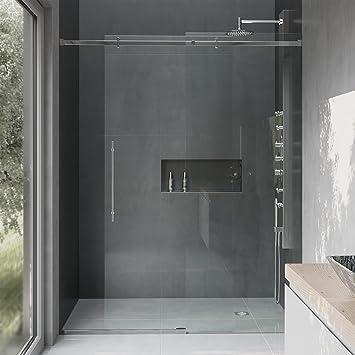 Vigo Luca 56 A 60-in. Sin marco deslizante para mampara de ducha ...