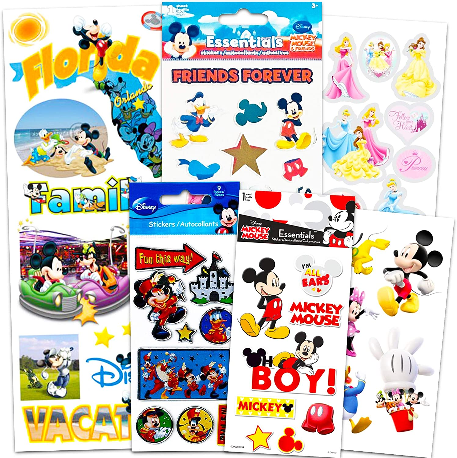 Disney Parks 9 Deluxe Postcards Mickey Mouse Minnie Goofy NEW