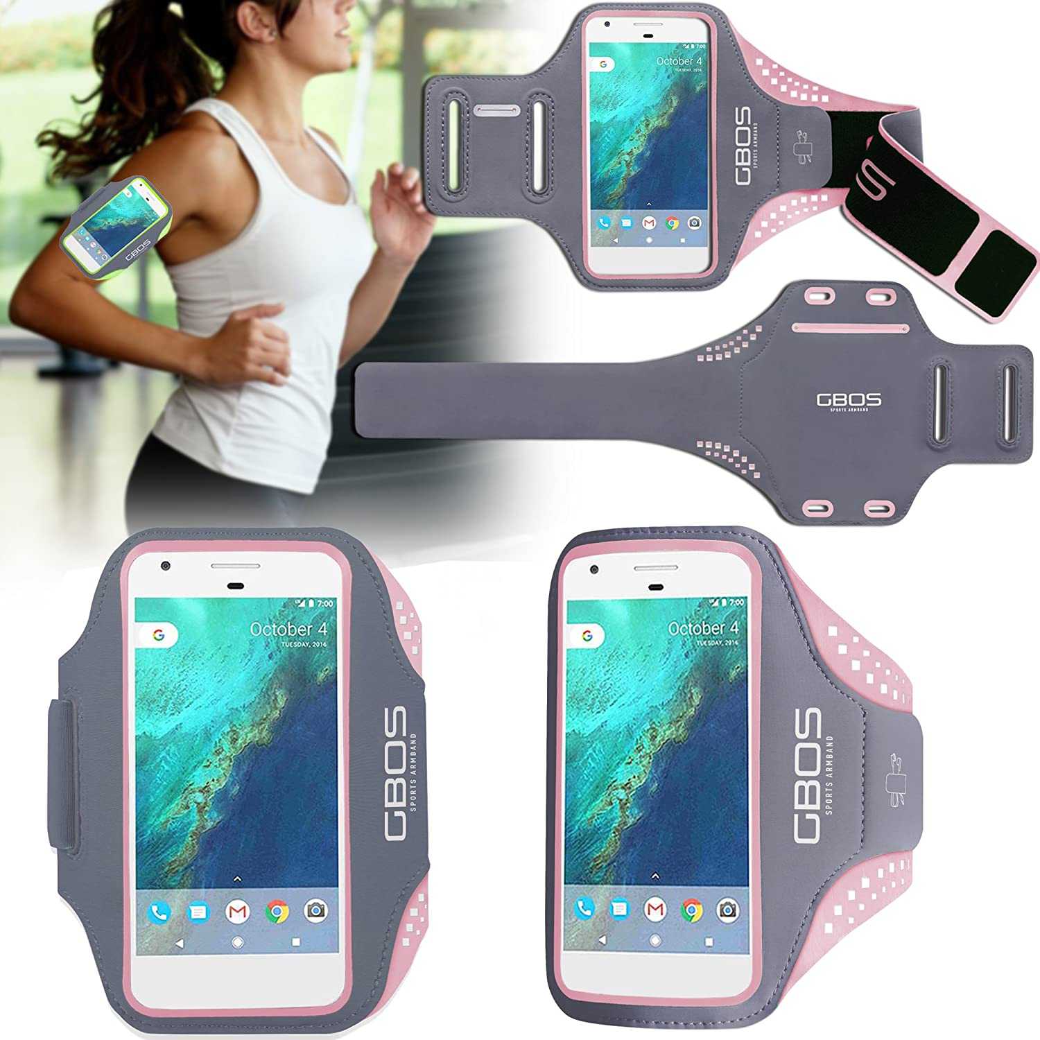 GBOS® Sports Gym Exercise Running Armband Case Cover For Xiaomi Redmi Mi Models