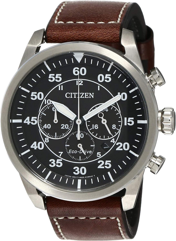 Citizen Reloj Cronógrafo para Hombre de Cuarzo con Correa en Cuero CA4210-16E