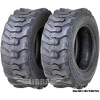 Set 2 New Super Guider Heavy Duty 10-16.5/10PR SKS1 Skid Steer Tire for Bobcat w/Rim Guard