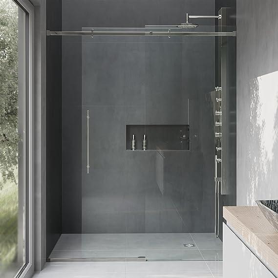 Vigo Luca 56 A 60-in. Sin marco deslizante para mampara de ducha con .375-in. Cristal transparente y cromo Hardware, VG6043STCL6074: Amazon.es: Bricolaje y herramientas