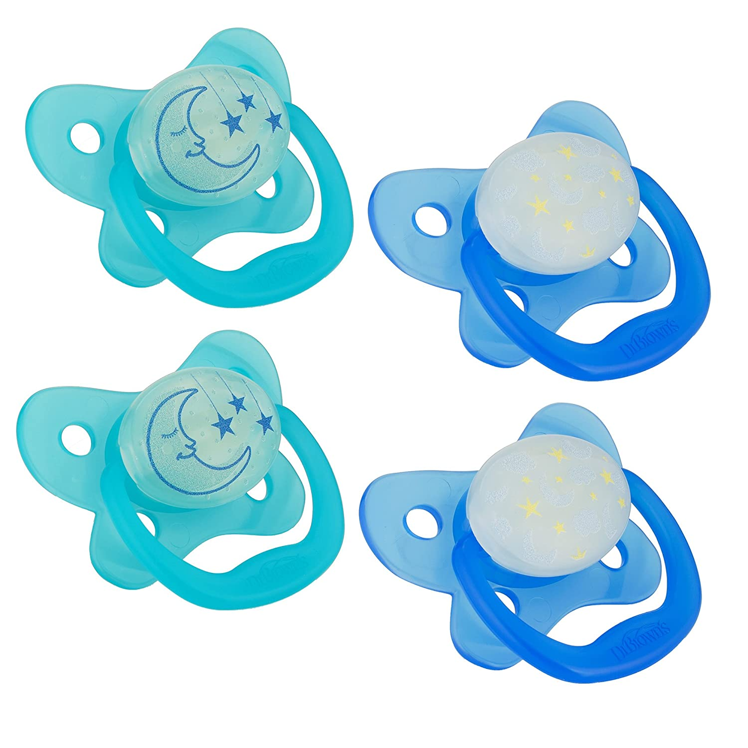 Dr. Browns PreVent Contour Glow in the Dark Pacifier, Stage ...