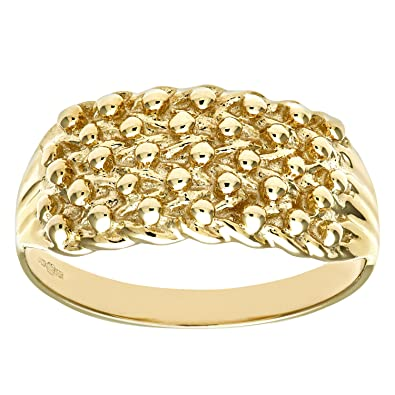 Citerna 9ct Yellow Gold Keeper Ring 0O1nnLM