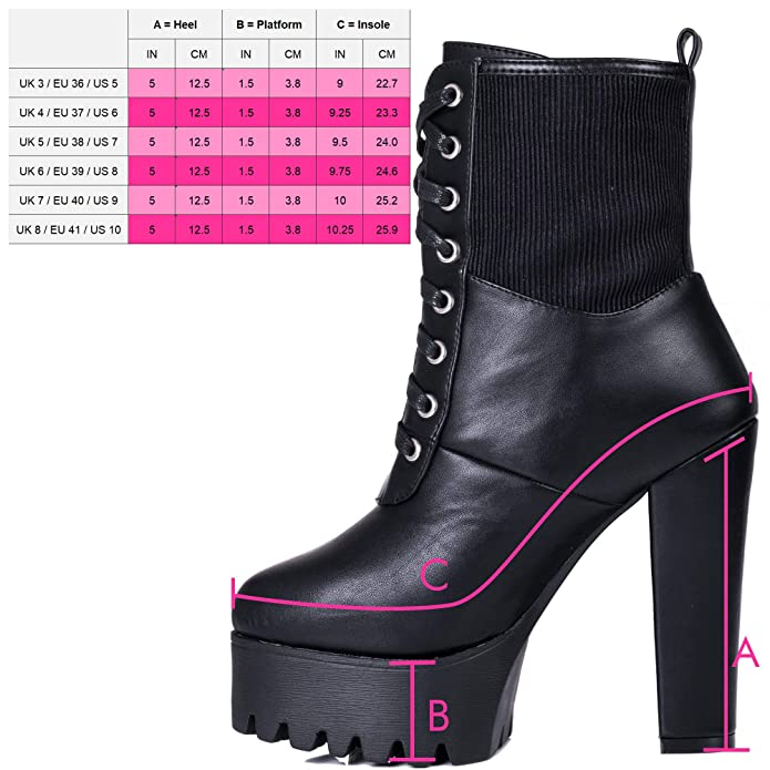 84471fefcfcf Spylovebuy Puffa Women s Chunky Platform Block Heel Ankle Boots Shoes   Amazon.co.uk  Shoes   Bags