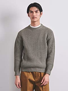 Chunky Cotton Crewneck Sweater 1113-106-4318: Olive