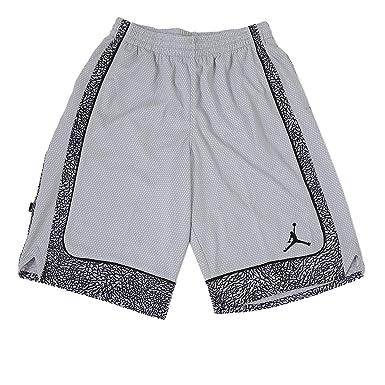 30f07e44300 Nike Boys' Jordan Varsity Elephant Print Basketball Shorts - Grey/Black  Small