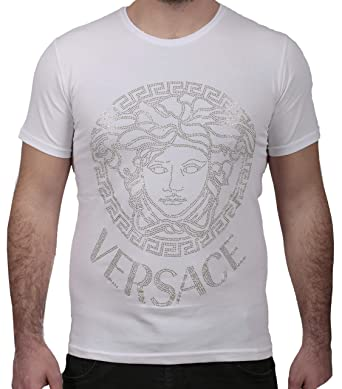 1b90513d Versace Collection Men's Crew Neck Regular Fit T-Shirt White at ...