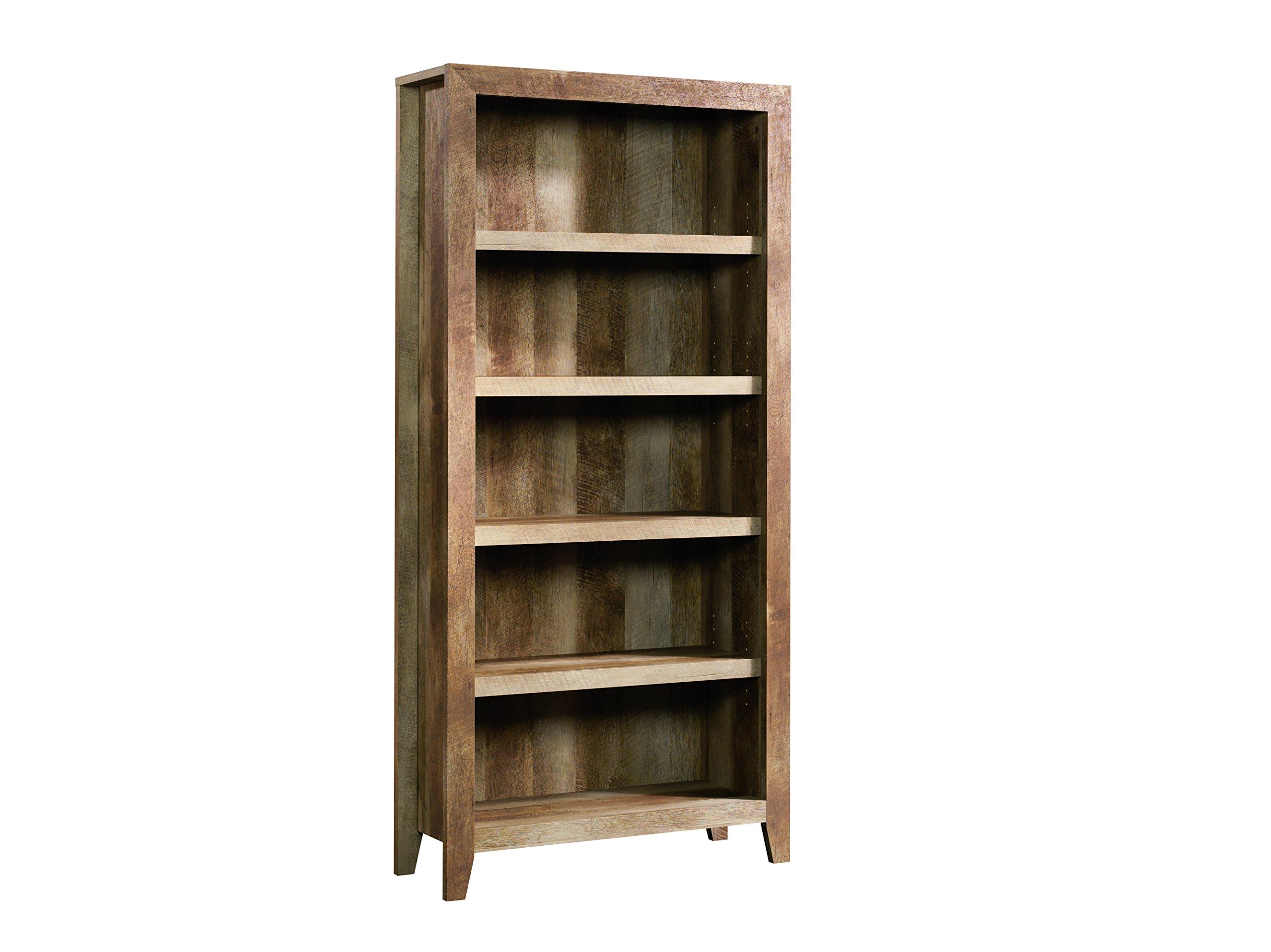 Sauder 418546 Dakota Pass 5-Shelf Bookcase, L: 33.78'' x W: 12.52'' x H: 71.1, Craftsman Oak finish by Sauder (Image #2)