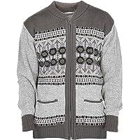 d0a9ea1c650c Mens Classic Style Cardigan Argyle Diamond Pattern   Plain Casual Design Zip  Up Thick Knit Warm