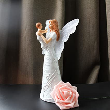 Amazon QTMY Angel Mother And Baby Resin Figurine Birthday Gift