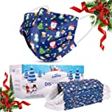 WAPIKE Face Mask, Christmas Mask, Disposable Face Masks 50 Pack