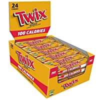 24-Pack Twix 100 Calories Caramel Chocolate Cookie Bar 0.71 Oz Deals