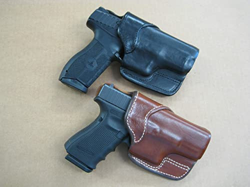 Azula Cross Draw Carry Molded Leather Holster for The Glock 26, 27, 33 Pistol - Black RH