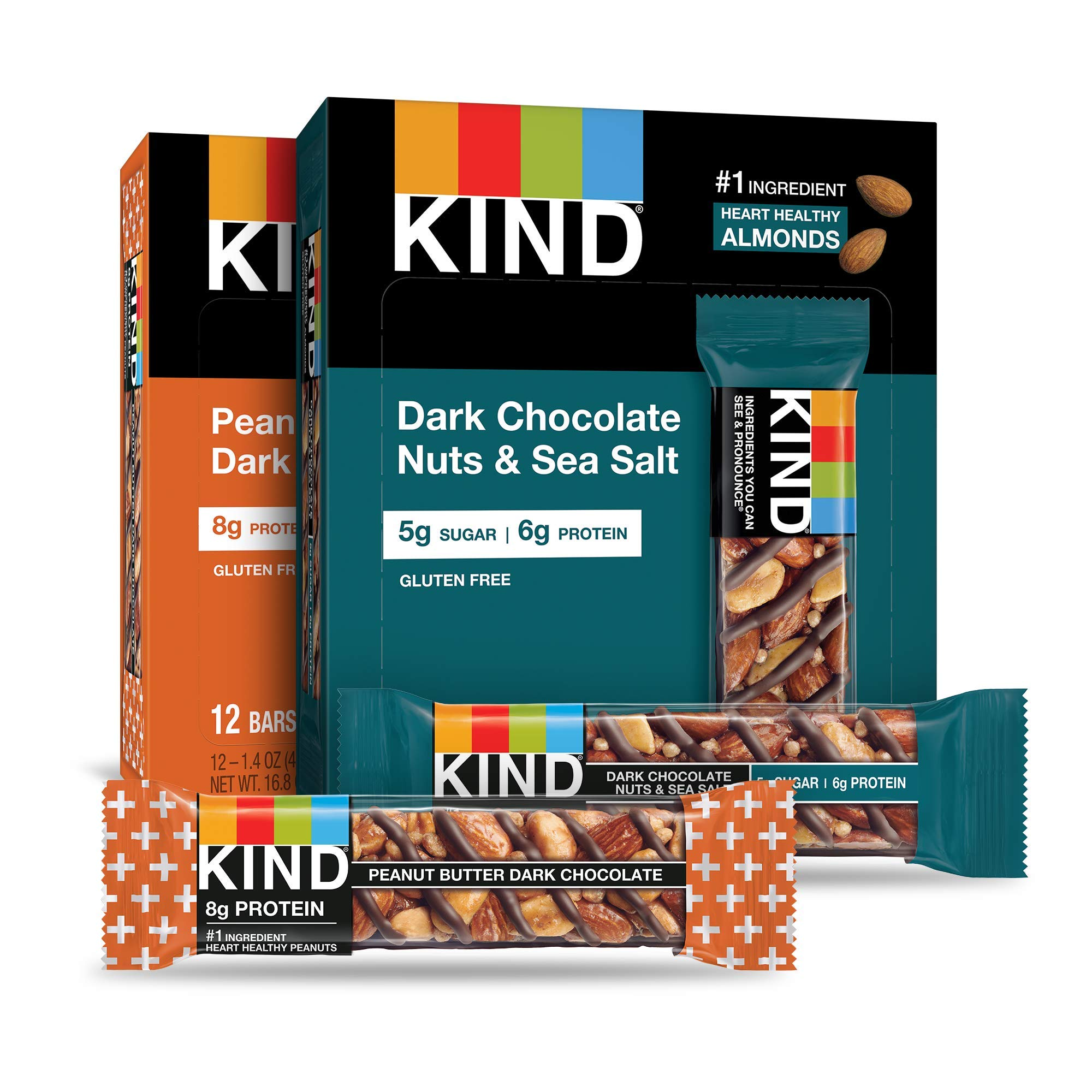 KIND Bars, Variety Pack, Gluten Free, 1.4 Ounce Bars, 24 Count by KIND