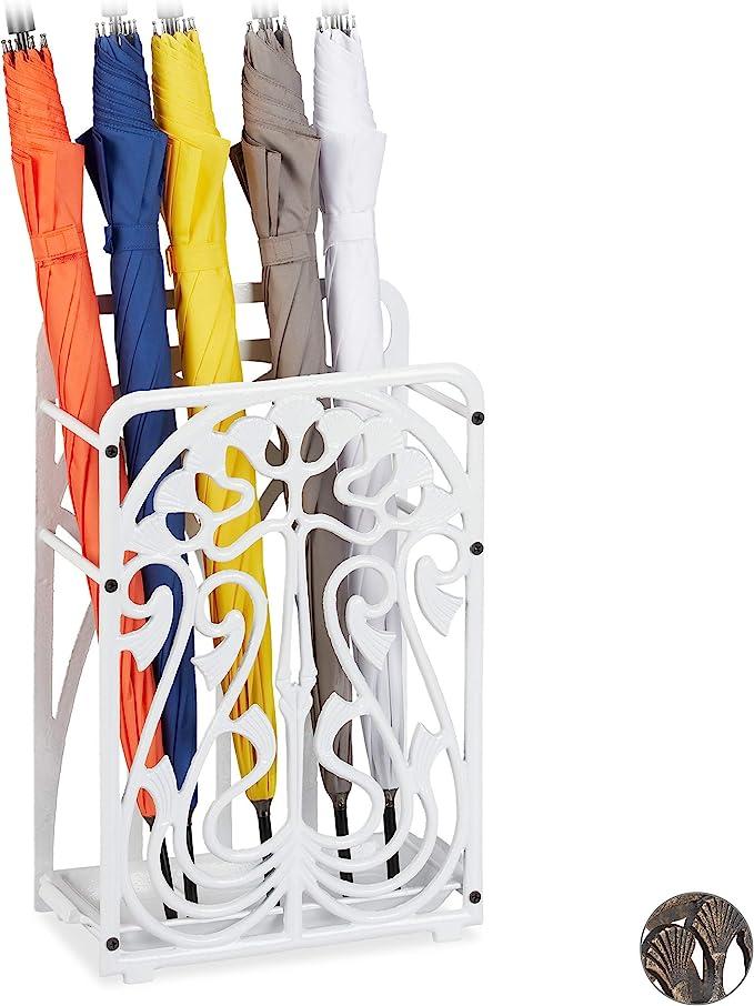 /économiseur despace pour Le Bureau Style carr/é 6 Trous lh/ôtel la Maison Lemby Porte-Parapluie rectangulaire en Plastique avec Plateau d/égouttement