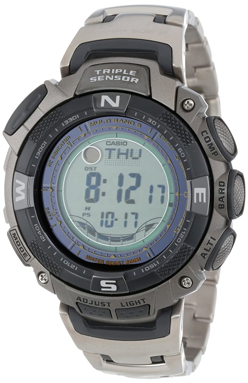 Casio PAW1500T-7V Mens Pathfinder Solar Power Atomic Alarm Watch: Amazon.es: Relojes