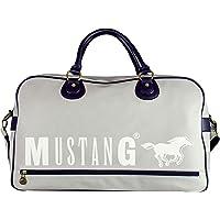 mustang Dayton Justin Travelbag Shz - Bolso de Mano para Hombre, Color Azul Oscuro