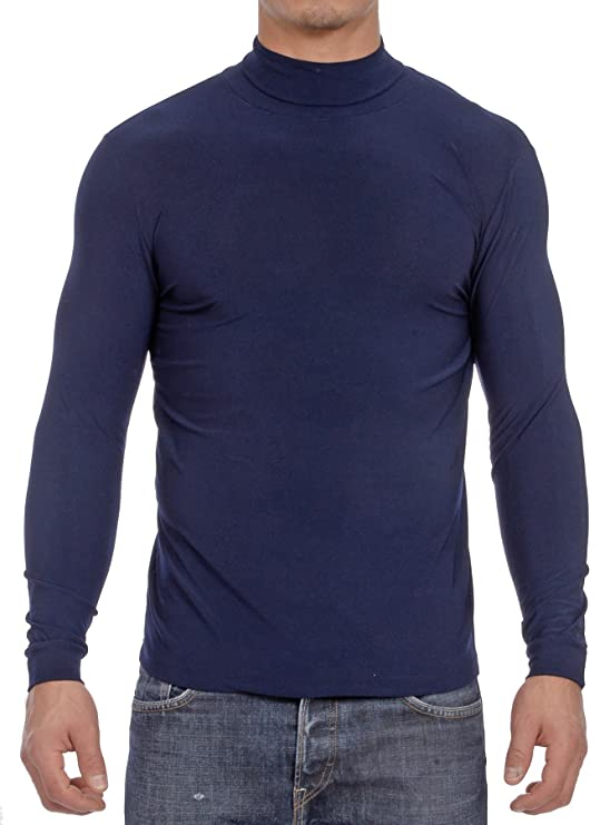Gary Majdell Sport Men's Activewear Turtleneck (Small, Navy) best men's turtlenecks