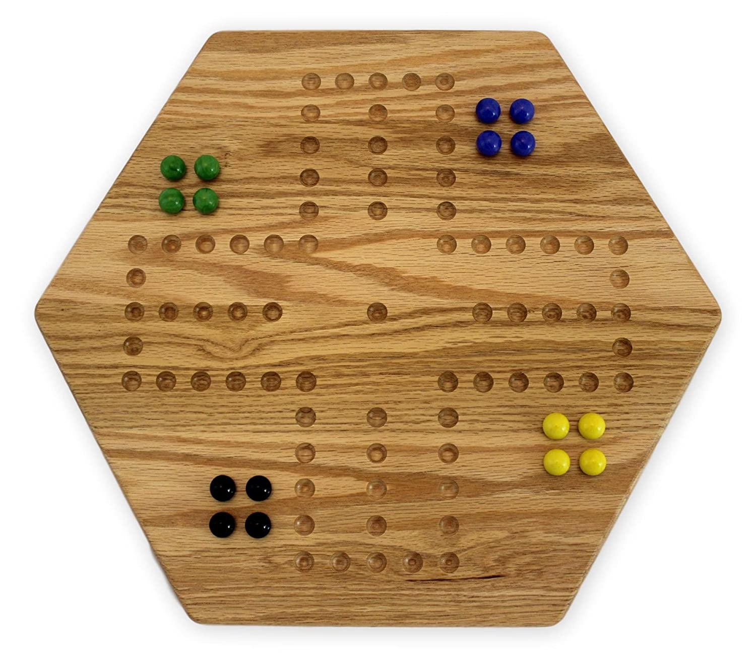 Amazon Solid Oak Double Sided Aggravation Wahoo Board Game