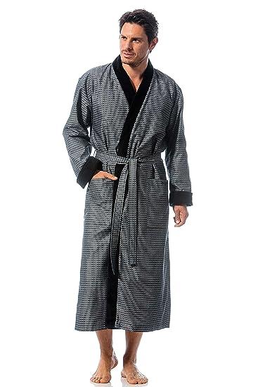 Bugatti, Bademantel für Herren, Größe XL, Farbe grau, Kimonokragen, Baumwolle, Größen M XXL verfügbar