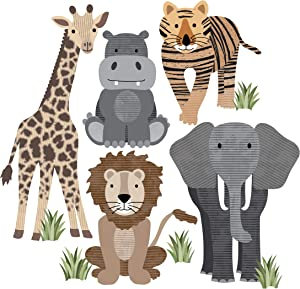 Safari Animal Wall Decals, Nursery Wall Decals, Jungle Wall Stickers