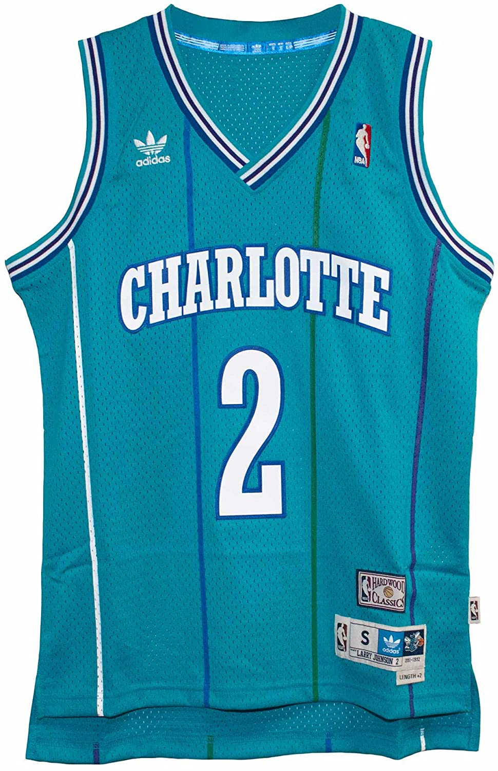 b9cfdb201 Amazon.com   Larry Johnson New Soulman Charlotte Hornets Adult Size  Throwback Jersey   Sports   Outdoors