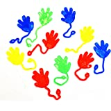 Sticky Hands and Feet | Dazzling Toys Vinyl Sticky Hands and Feet Birthday Party Favors Carnival Prize - Pack of 72 Hands, 1 1/4 Inch Hand with a 4 Inch String
