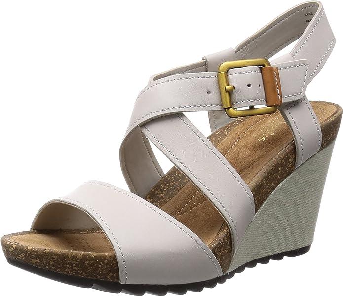 Clarks donna pe15 sandalo Overly Shimmer avorio (41): Amazon