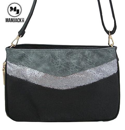 super populaire 5f48b 9e849 Mamjack - Sac bandoulière femme/sac paillettes femme/sac porté épaule/Sac  Strass/Pochette soirée strass