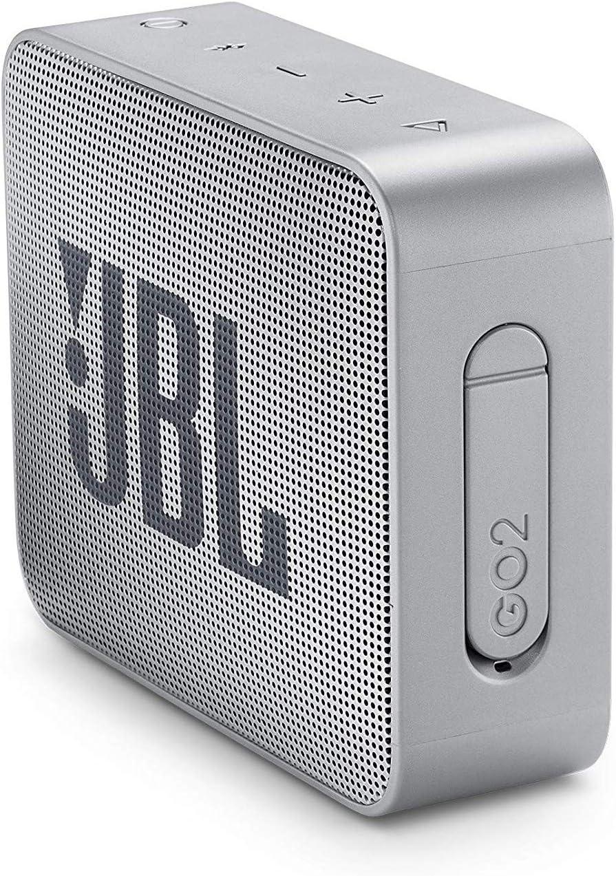 Amazon Prime - JBL GO 2  Bluetooth-Lautsprecher (Grau, Wasserfest, Freisprechfunktion, bis 5h Musik) für 17,99€
