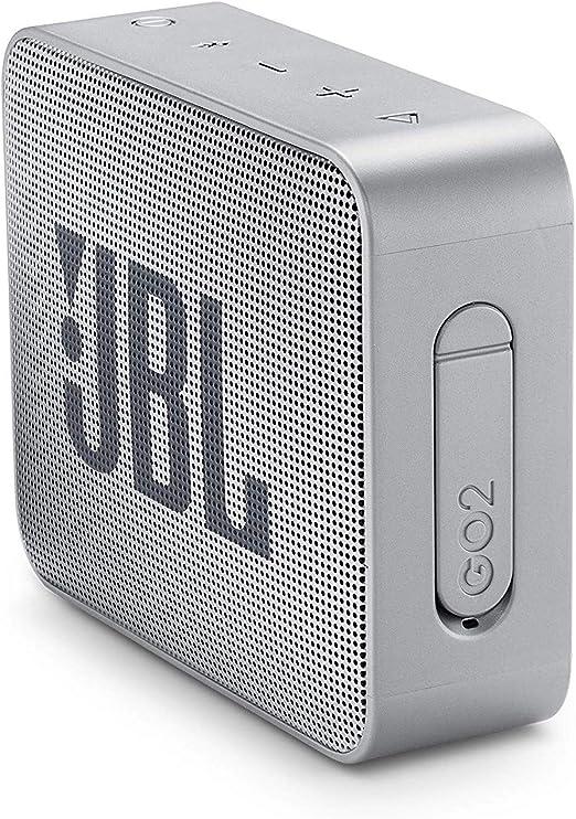 Jbl Go 2 Kleine Musikbox In Grau Wasserfester Portabler Bluetooth Lautsprecher Mit Freisprechfunktion Bis Zu 5 Stunden Musikgenuss Mit Nur Einer Akku Ladung Audio Hifi