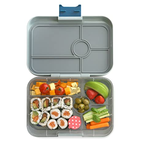 801ec0129285 YUMBOX TAPAS Larger Size (Flat Iron Gray) Leakproof Bento lunch box with 5  compartment non-illustrated food tray or Adults, Teens & Pre-teens