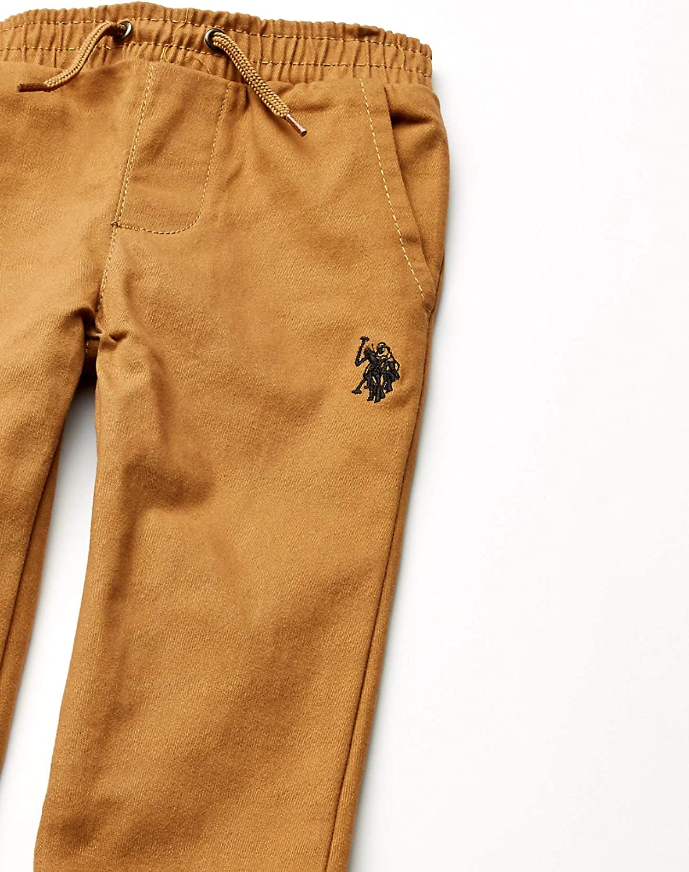 Polo Assn U.S Solid T-Shirt and Twill Jogger Set Boys Logo Polo