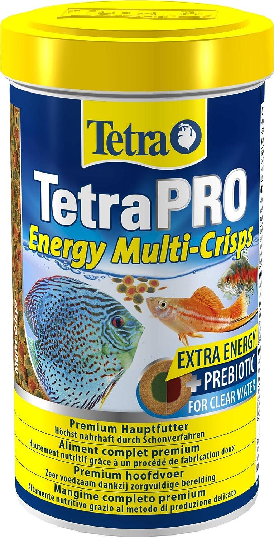 Tetra Pro Energy Multi-Crisps 500 ml - Mangime Completo di Qualità Superiore con Valori Nutrizionali Eccellenti, Concentrato di Energia Extra Aumenta la Vitalità dei Pesci