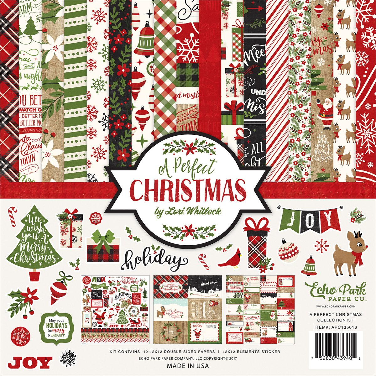 Echo Park Paper Company a Perfect Christmas Collection Kit APC135016