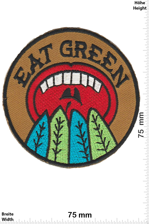 Vegan Patch-Iron-Eat Green - Fun Aufn/äher Embleme B/ügelbild Aufb/ügler - Iron On Patches