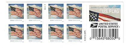 Buy Us Flag Usps Forever Stamps Book Of 20 2016 New