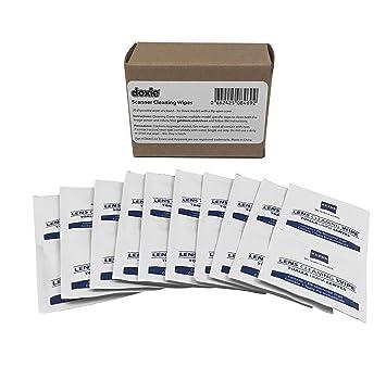 Toallitas de limpieza para escáner Doxie (paquete de 20) (para todos los modelos de tapa abatible): Amazon.es: Oficina y papelería