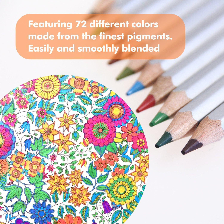 Amazon.com : Ohuhu 72-color Colored Pencil/ Drawing Pencils in Tin ...
