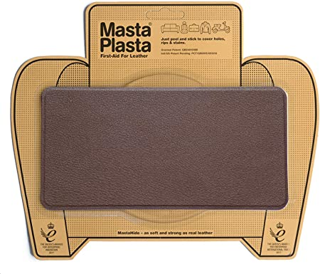 MastaPlasta - Parches Premium AUTOADHESIVOS para reparación de Cuero y Otros Tejidos. MARRÓN Medio. Elije el tamaño y el diseño. Primeros Auxilios para sofás, Asientos de Coche, Bolsos, Chaquetas: Amazon.es: Hogar