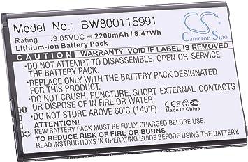 vhbw Li-Ion batería 2200mAh (3.85V) para móvil Smartphone teléfono LG M200N, M210, M400AR, M400DF, M400DK, M400F, M400MT, M400N, M400Y, MS210, PH3: Amazon.es: Electrónica