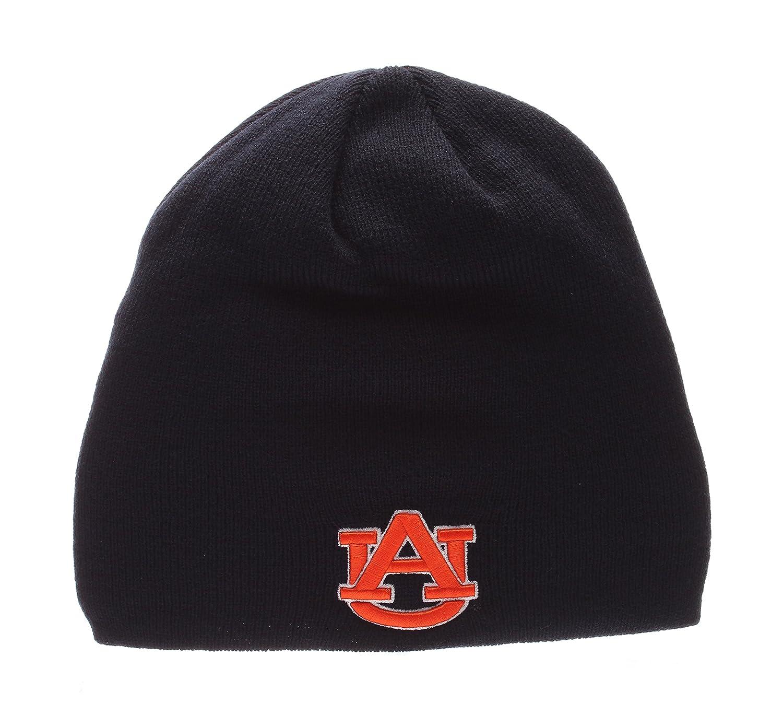 Amazon.com   ZHATS Auburn Tigers Navy Edge Skull Cap - NCAA Cuffless Winter Knit  Beanie Toque Hat   Sports   Outdoors c53d069e0347