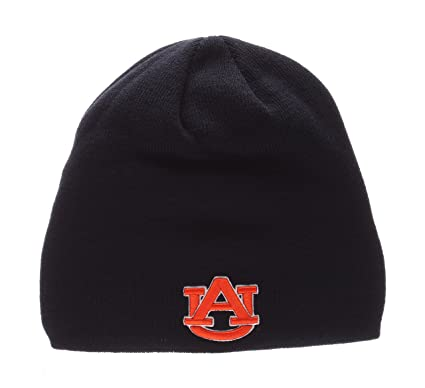 eed4bd0c0a1 ZHATS Auburn Tigers Navy Edge Skull Cap - NCAA Cuffless Winter Knit Beanie  Toque Hat