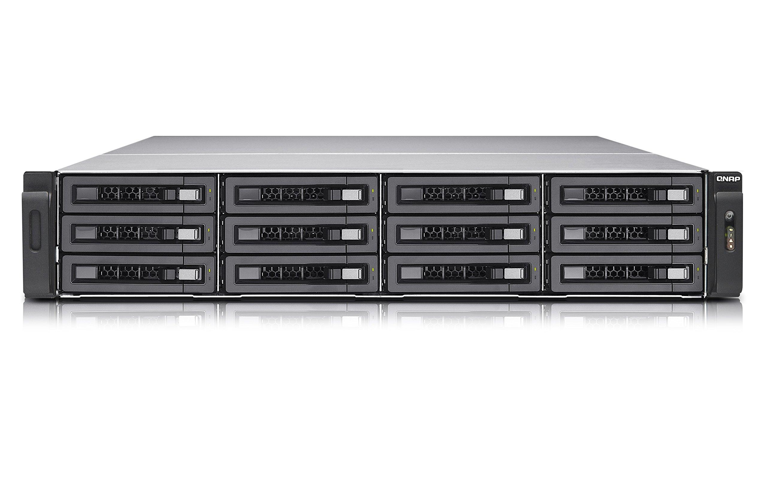 QNAP 12 Bay 2U NAS 8GB iSCSI (TVS-EC1280U-SAS-RP-8GE-R2) by QNAP