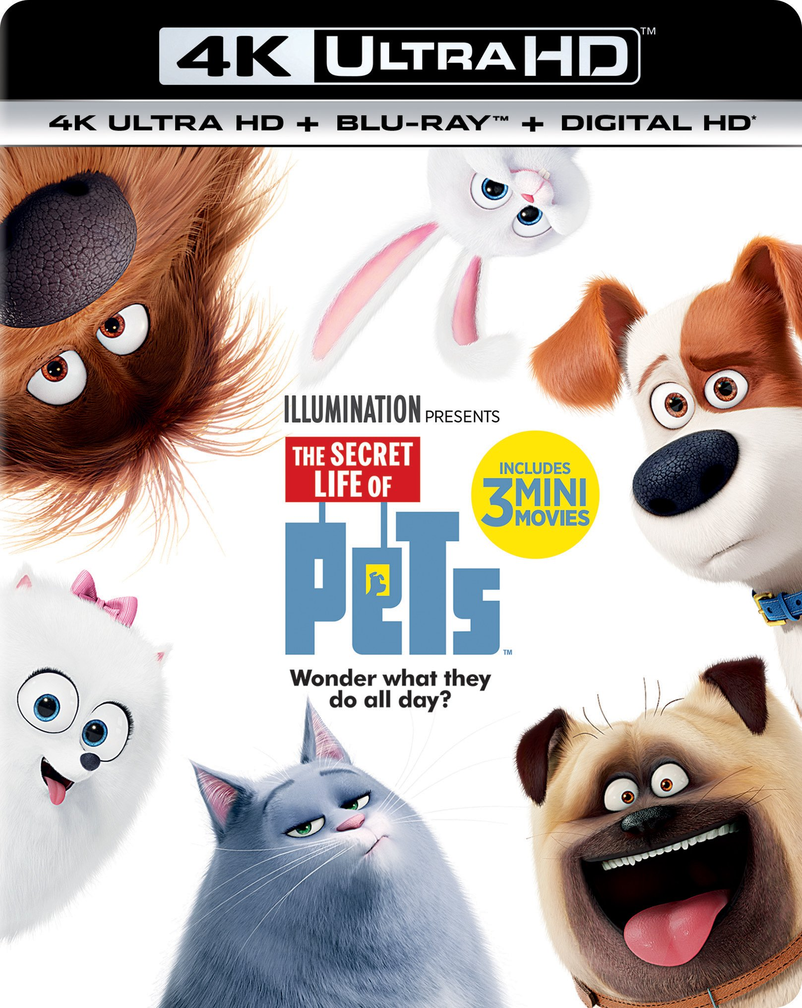 4K Blu-ray : The Secret Life Of Pets (With Blu-Ray, 4K Mastering, Ultraviolet Digital Copy, Digitally Mastered in HD, Digital Copy)