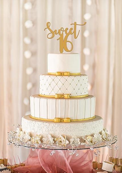 Amazon Com Sweet 16 Cake Topper 16th Birthday Cake Topper Sweet