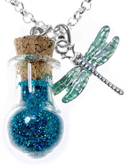10Pcs Glass Bottles Message Treasure Charm Pendant DIY Kit for Wish Necklace