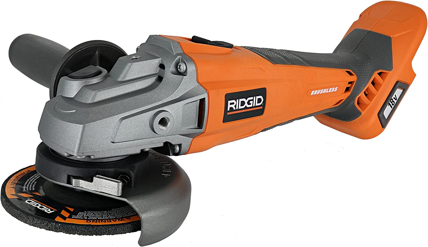 Ridgid brushless 18v 4-1 2in. Angle Grinder Renewed